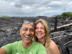 Mojo and Lucy at Post-Volcano Hedonisia Hawaii